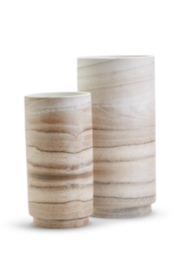 Two's Company Small Faux European White Oak Vase - Front cropped