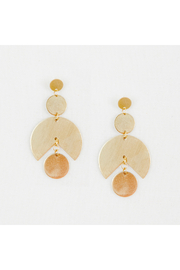 Altiplano Large Graphic Circle Earrings - Product Mini Image
