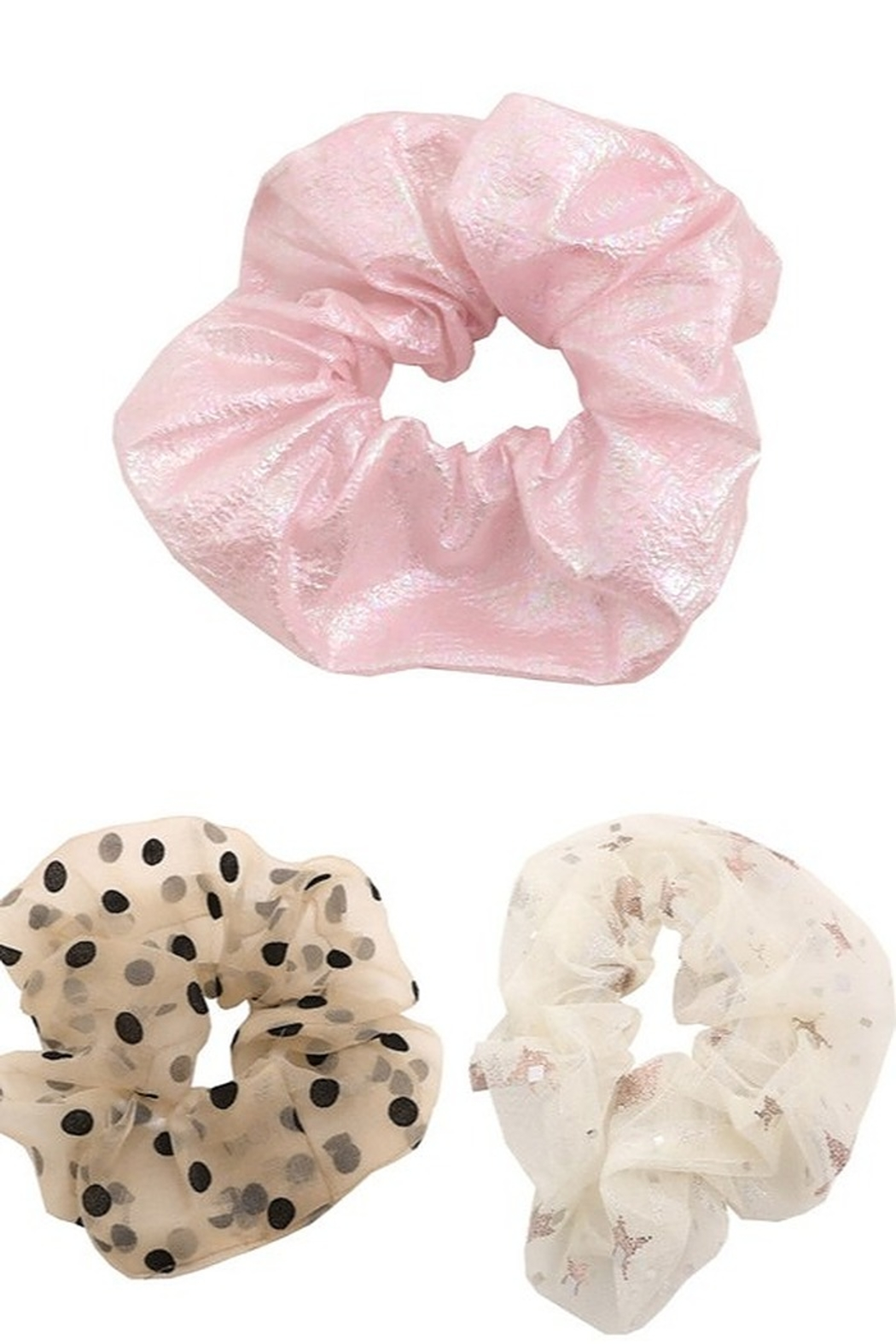 Fame Accessories Large Hair Scrunchie - Front Cropped Image