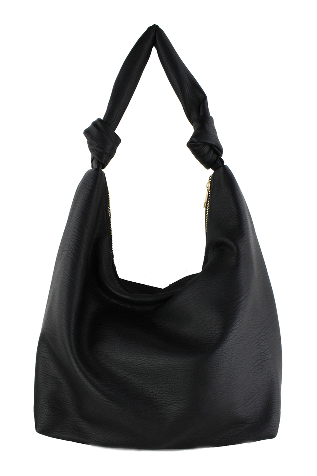 Street Level Large Hobo W/ Knot Handle Detail - Front Cropped Image