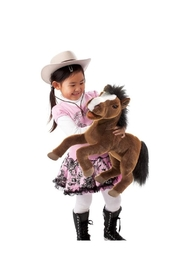 Folkmanis Large Horse Puppet - Front full body