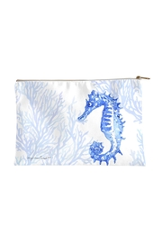 Sally Eckman Roberts Large Indigo-Seahorse Pouch - Front cropped