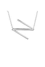 Lets Accessorize Large Initial Necklace - Side cropped