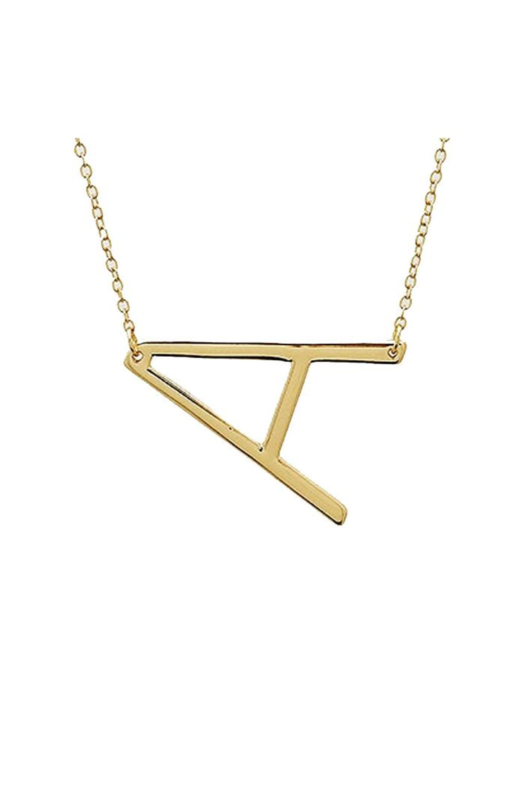 Lets Accessorize Large Initial Necklace - Back Cropped Image