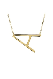 Lets Accessorize Large Initial Necklace - Back cropped