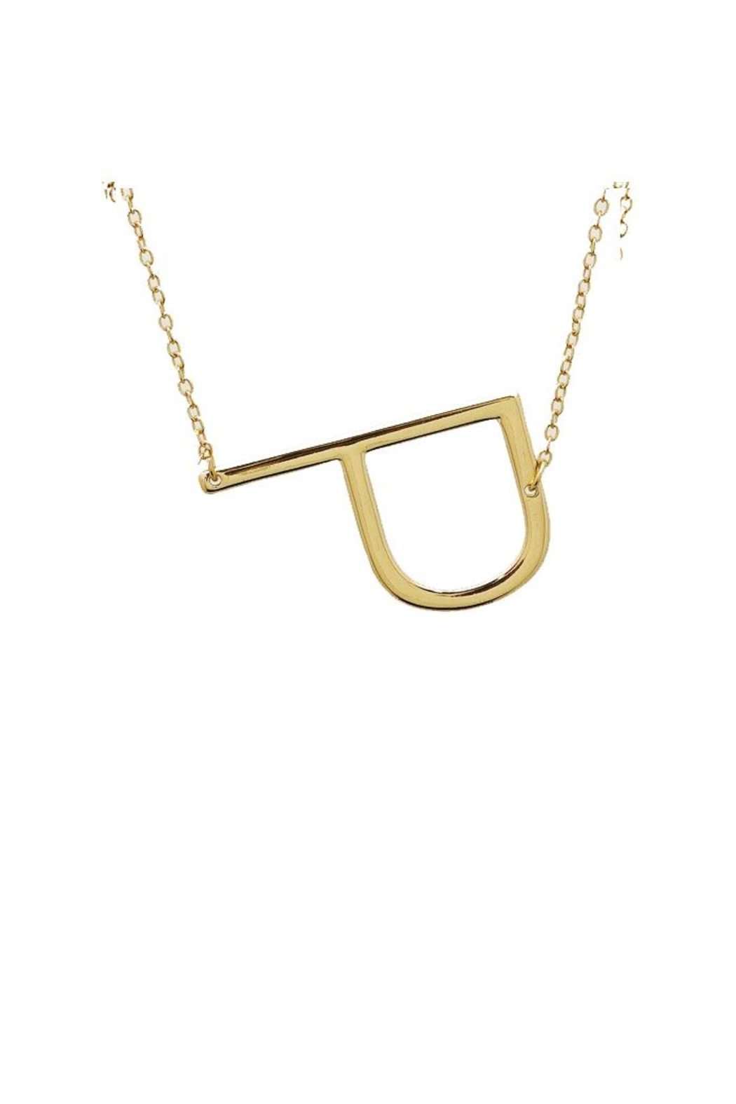 Lets Accessorize Large Initial Necklace - Front Cropped Image