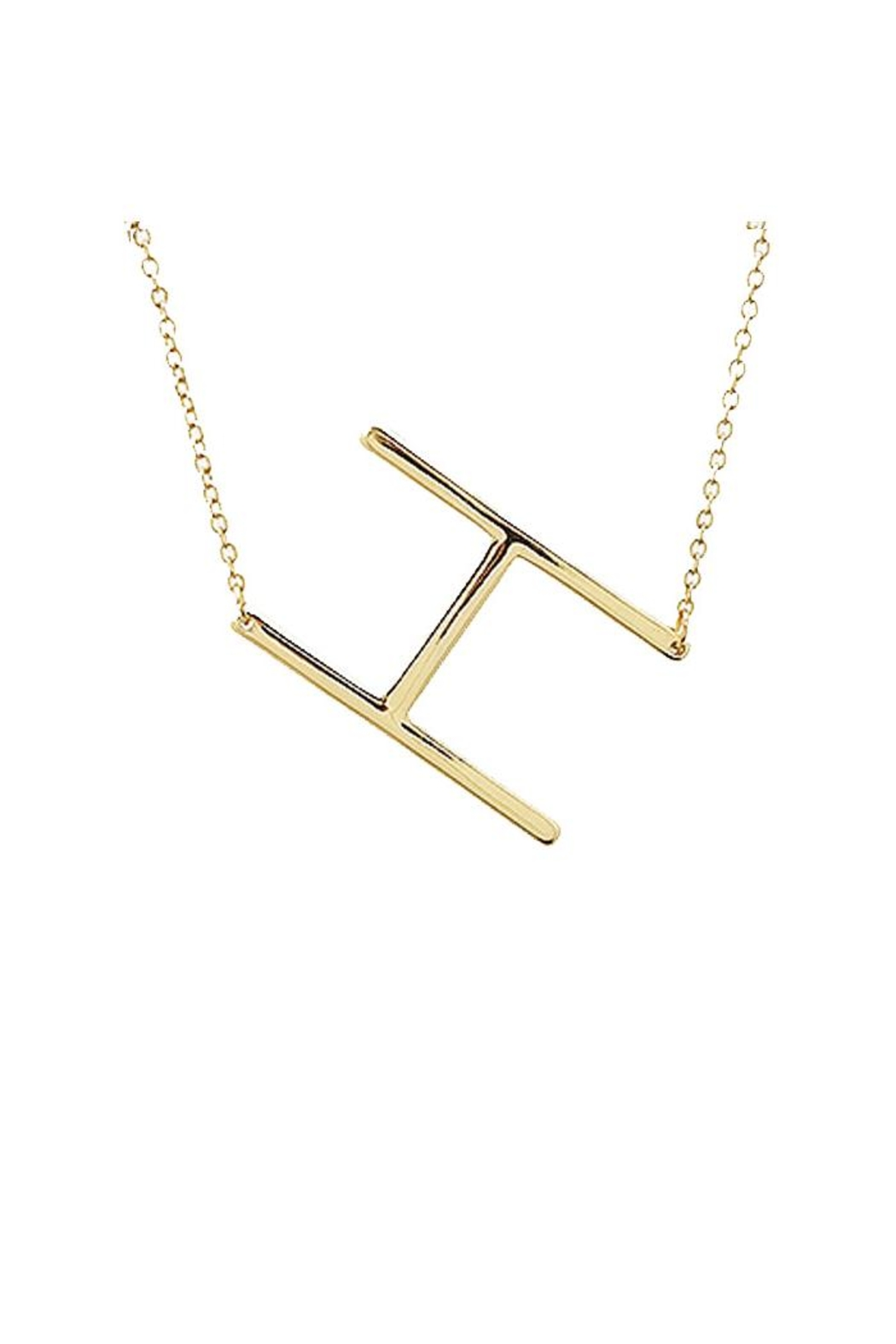 Lets Accessorize Large Initial Necklace - Front Full Image