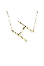 Lets Accessorize Large Initial Necklace - Front full body
