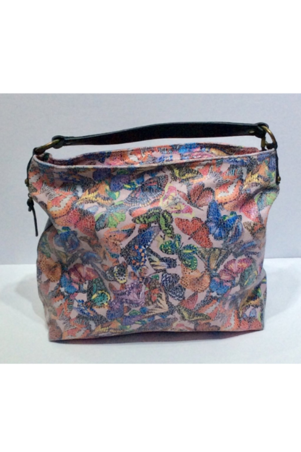DiJore Large Italian Buttlerfly Leather Handbag - Front Cropped Image