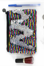 Funky Monkey  Large Mermaid Sequin Pouch - Product Mini Image