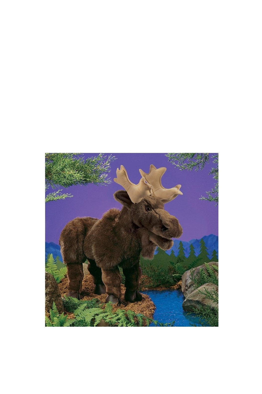 Folkmanis Large Moose Puppet - Front Full Image