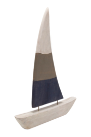 Sagebrook Home LARGE PAINTED WOODEN SAILBOAT - Front cropped