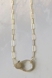 Market and King Large Pave clasp necklace - Product Mini Image