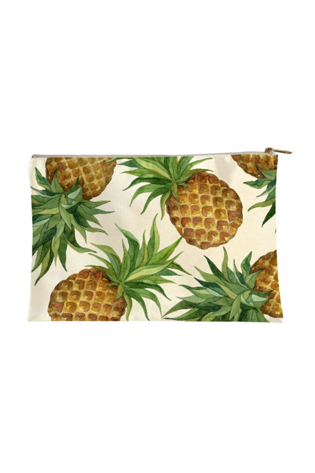 Sally Eckman Roberts Large Pineapples Pouch - Main Image