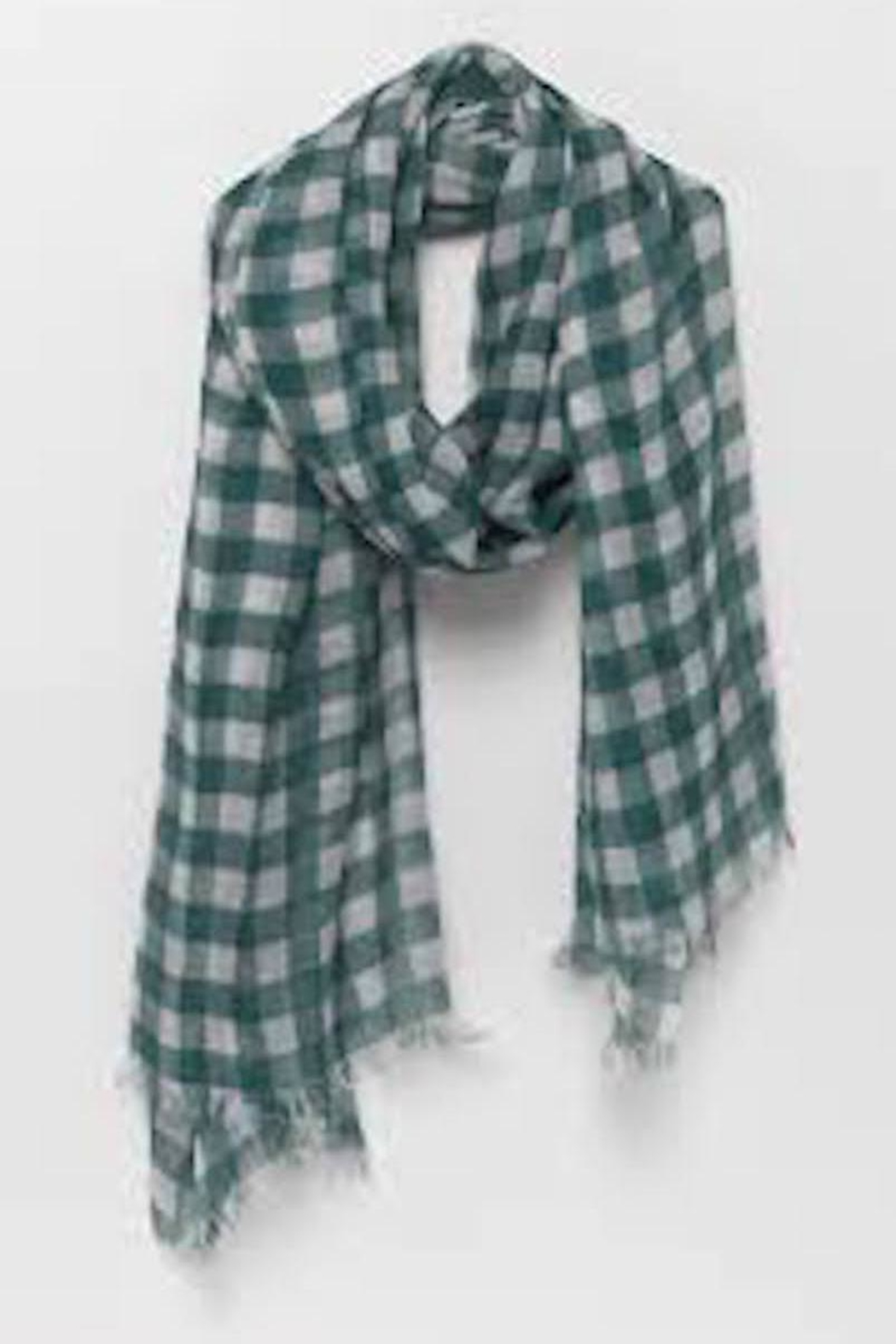 American Vintage Large Plaid Scarf - Front Cropped Image