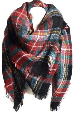 Olive & Pique Large Plaid Scarf - Product List Image