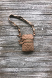 Sondra Roberts Large Quilted Pleather Crossbody - Product Mini Image