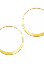 Daphne Olive Large Round Gold Hoops - Product Mini Image