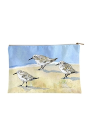 Sally Eckman Roberts Large Sandpipers Pouch - Front cropped