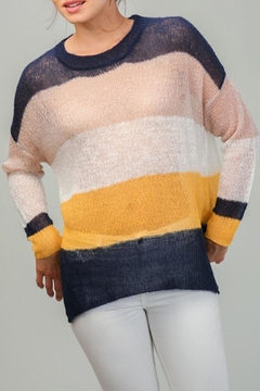 Shoptiques Product: Large Stripe Sweater