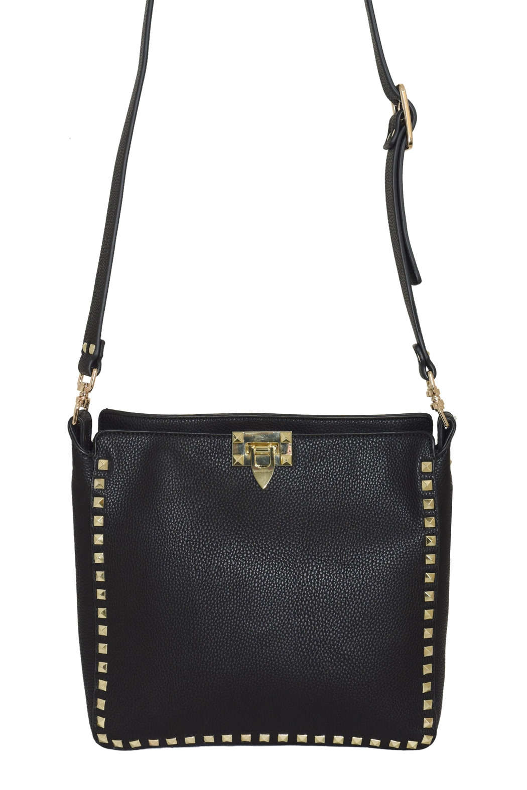 INZI Large Studded Crossbody - Front Full Image