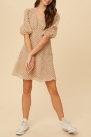 Listicle Large Swiss Dot Dress - Front cropped