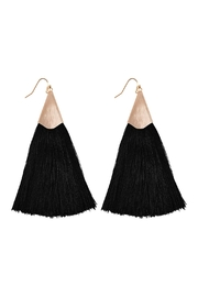 Riah Fashion Large Tassel Earrings - Product Mini Image