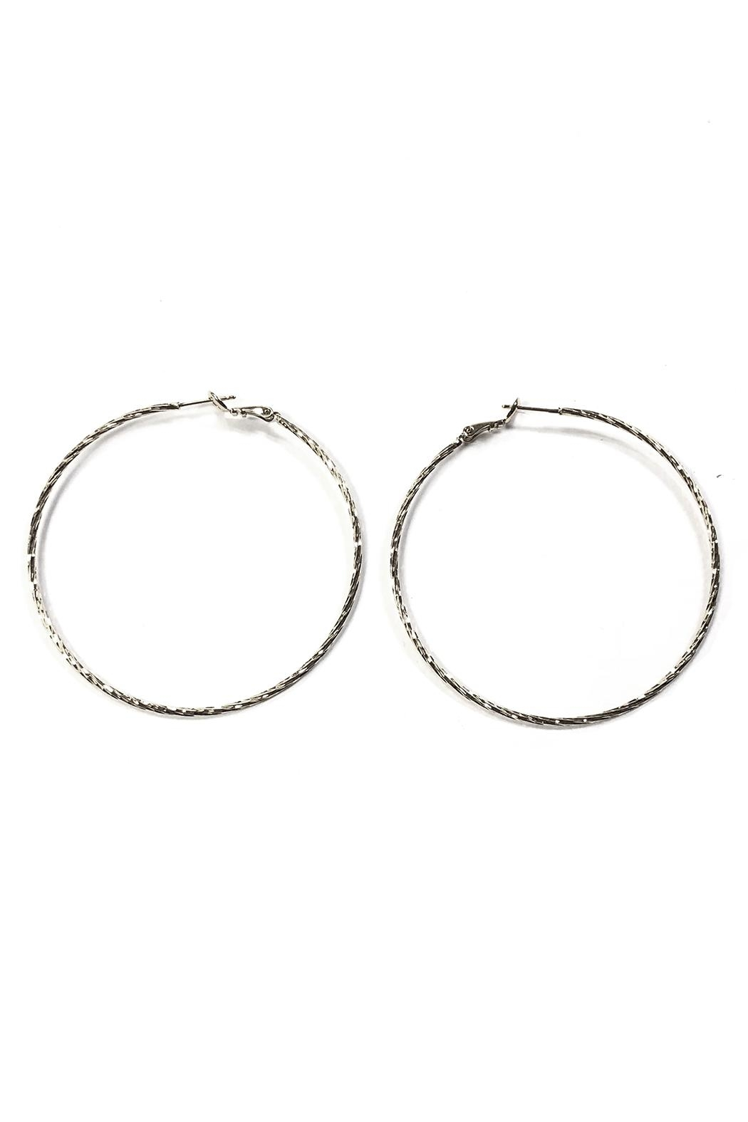 Lets Accessorize Large Textured Hoops - Main Image