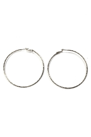 Lets Accessorize Large Textured Hoops - Front cropped