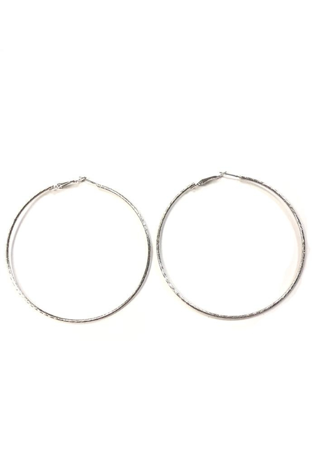Wona Trading Large White-Gold Hoops - Front Cropped Image