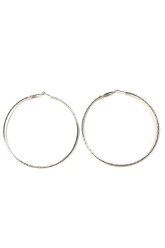 Wona Trading Large White-Gold Hoops - Product List Image