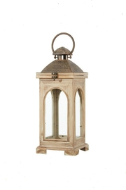 RAZ Imports Large Wood&Metal Lantern - Product Mini Image