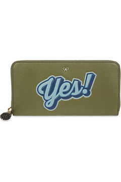Shoptiques Product: Large Zip Round Wallet Yes/No