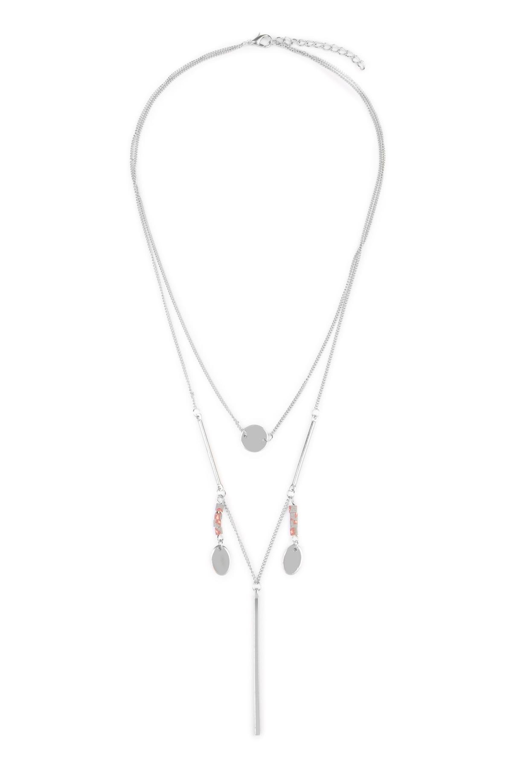 Riah Fashion Lariat Layering Necklaces - Front Cropped Image