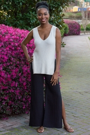 Cupcakes and Cashmere Larissa Ribbed Slit Knit Tank - Front cropped