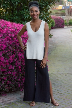Cupcakes and Cashmere Larissa Ribbed Slit Knit Tank - Product List Image