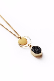 Larissa Loden Black Drusy Necklace - Product Mini Image