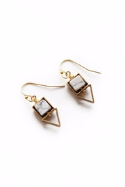 Larissa Loden Howlite Pique Earrings - Product Mini Image