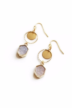 Shoptiques Product: Pink Drusy Earrings