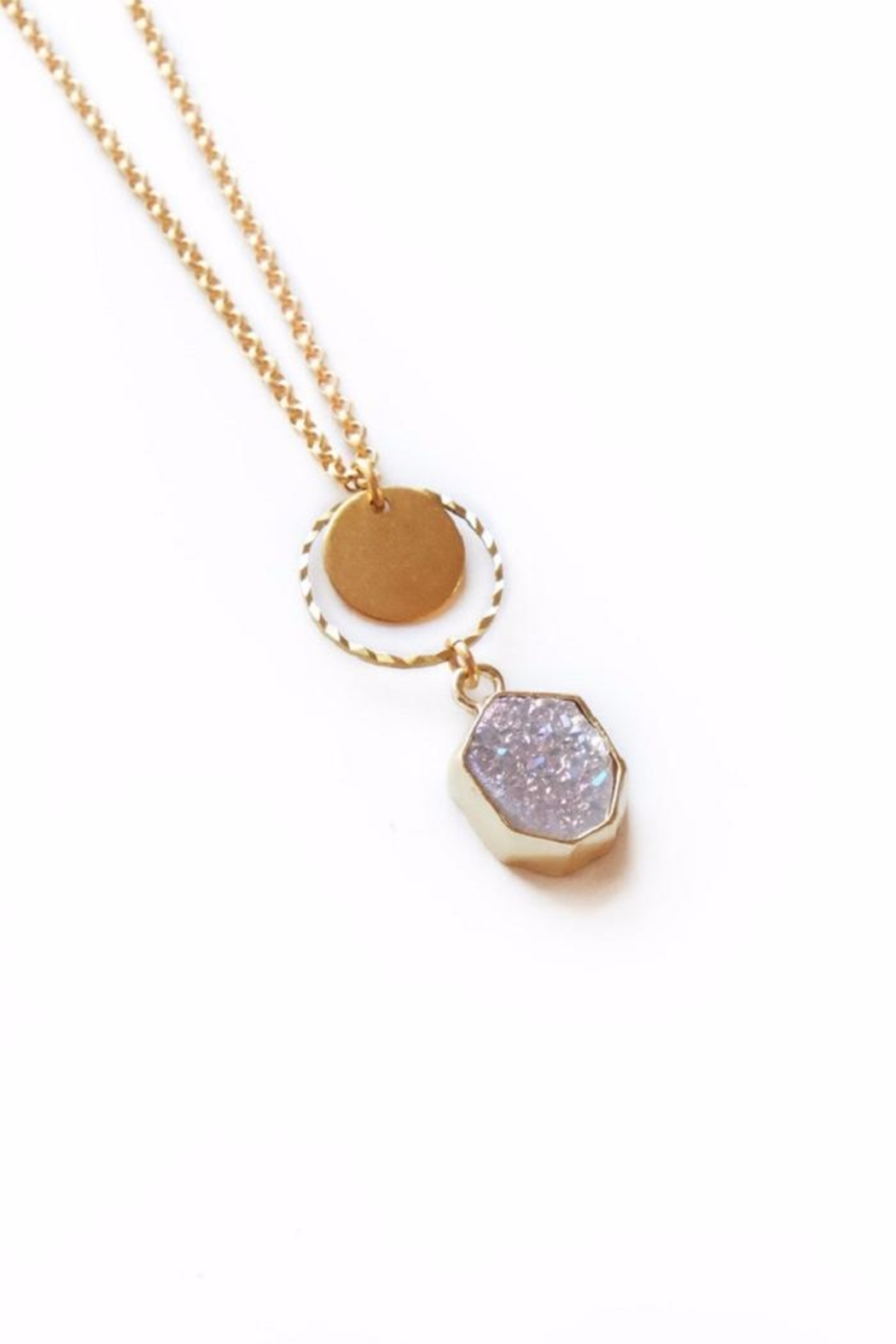Larissa Loden Pink Drusy Necklace - Main Image