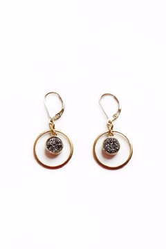 Shoptiques Product: Silver Drusy Earrings