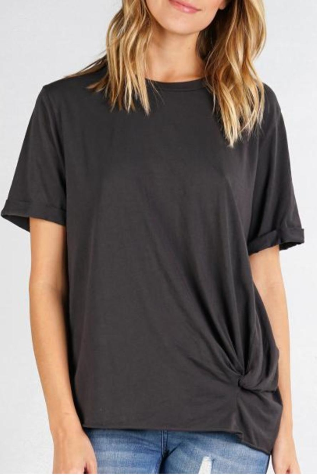Love Stitch Larkin Side-Knot Tee - Front Cropped Image