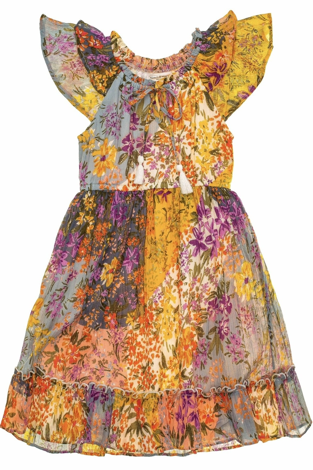 Mimi and Maggie Larkspur Midi Peasant Dress - Main Image