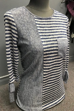 Lasania Blue And White Stripe Top - Product List Image