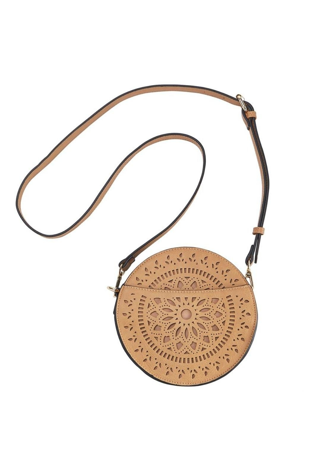 Mud Pie Laser Cut Crossbody - Front Cropped Image