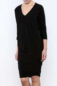 Shoptiques Product: 3/4 Sleeve Asymmetrical Dress