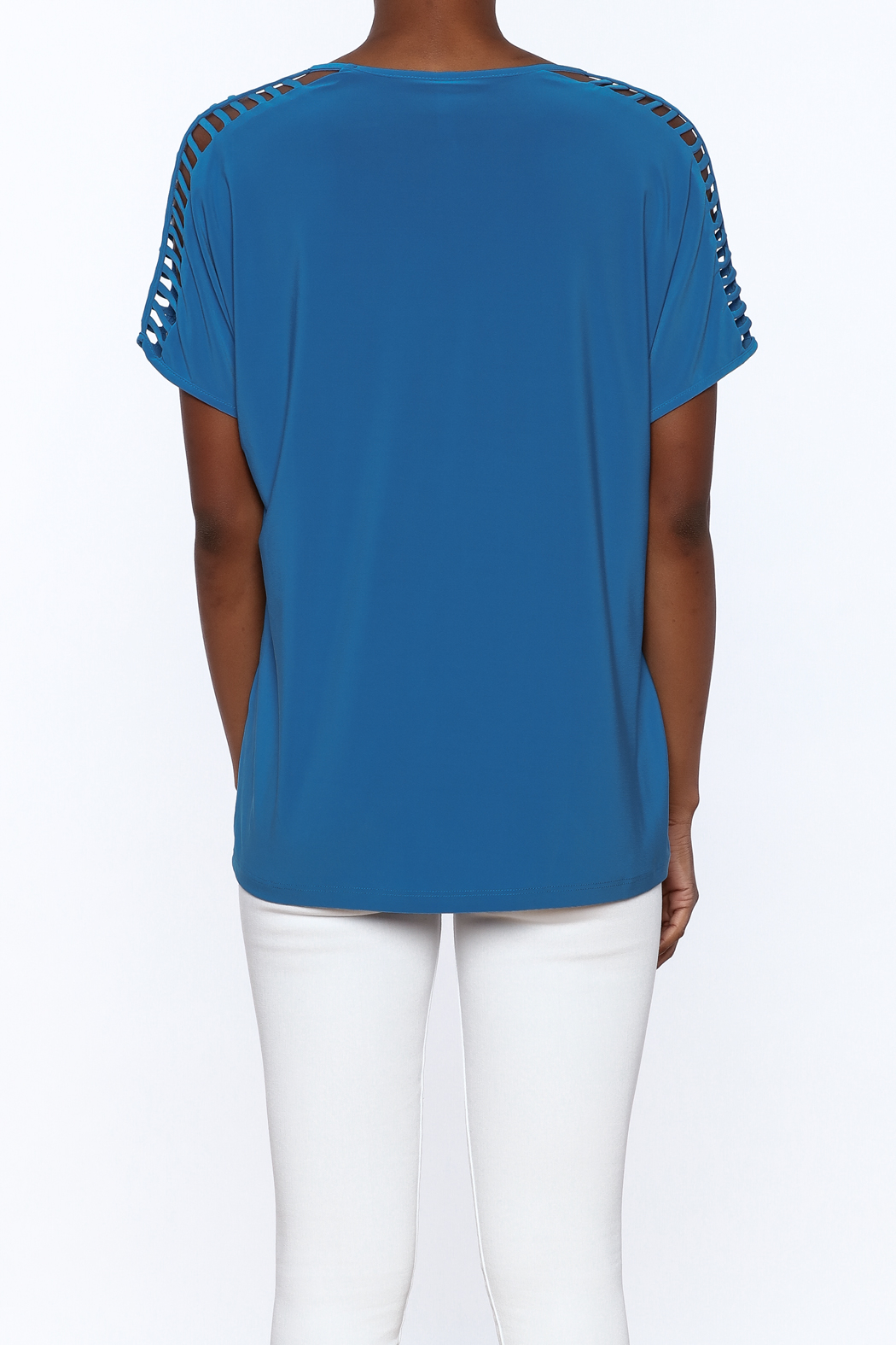 Last Tango Blue Tunic Top - Back Cropped Image