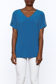 Last Tango Blue Tunic Top - Side cropped