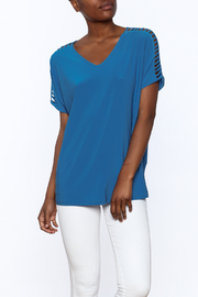 Last Tango Blue Tunic Top - Product Mini Image