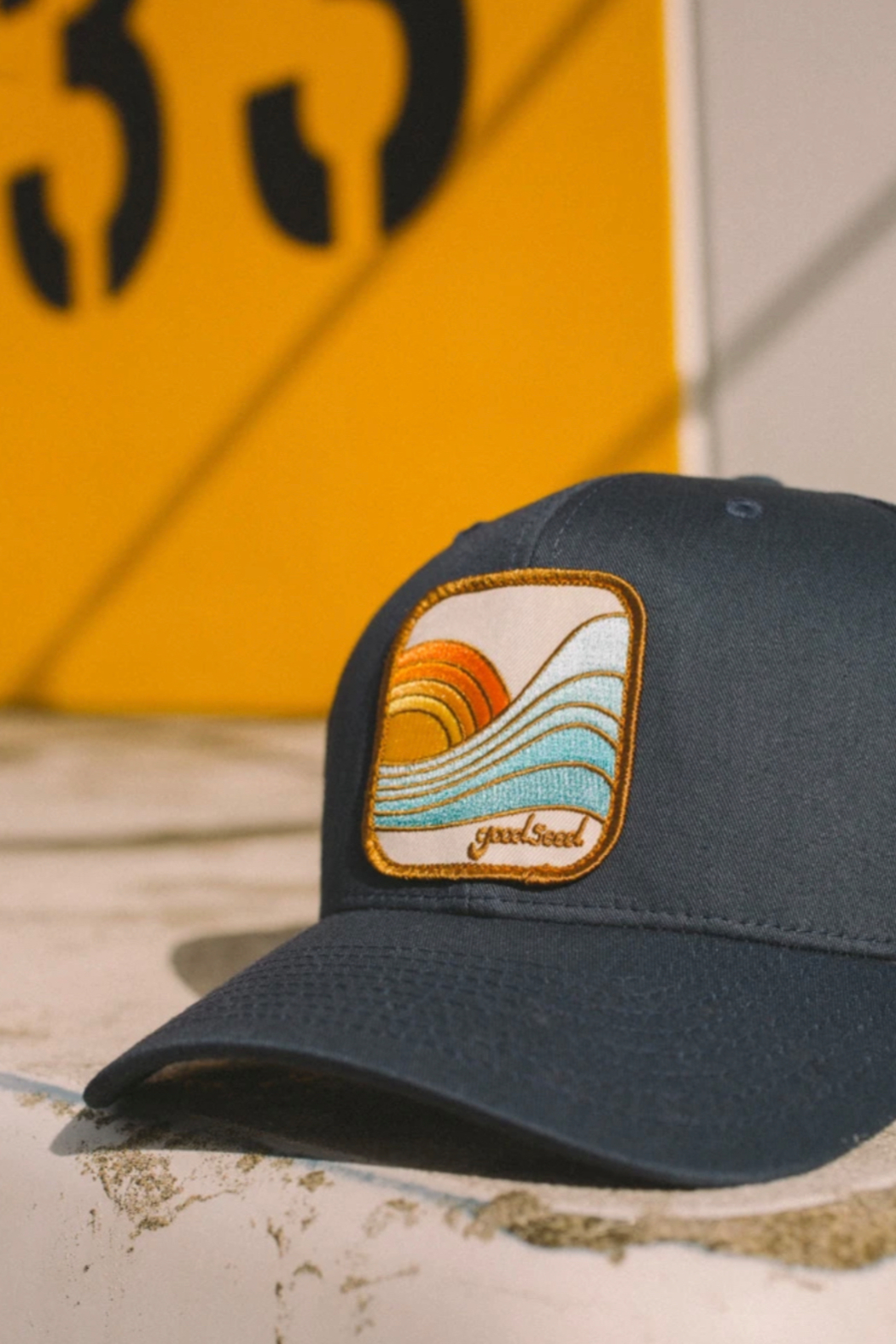 Goodseed Clothing Last Wave Trucker Hat - Front Full Image